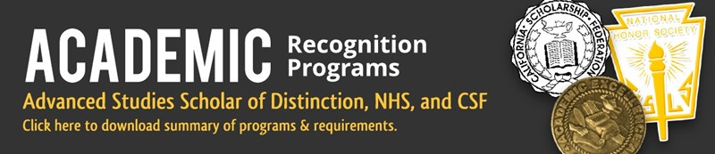 Academic Recognition Program banner