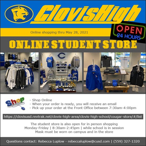 CHS Online Student Store Flyer