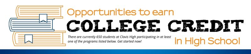 Earning College Credit banner. Click here to read the handout.