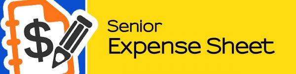 Senior Expense Sheet