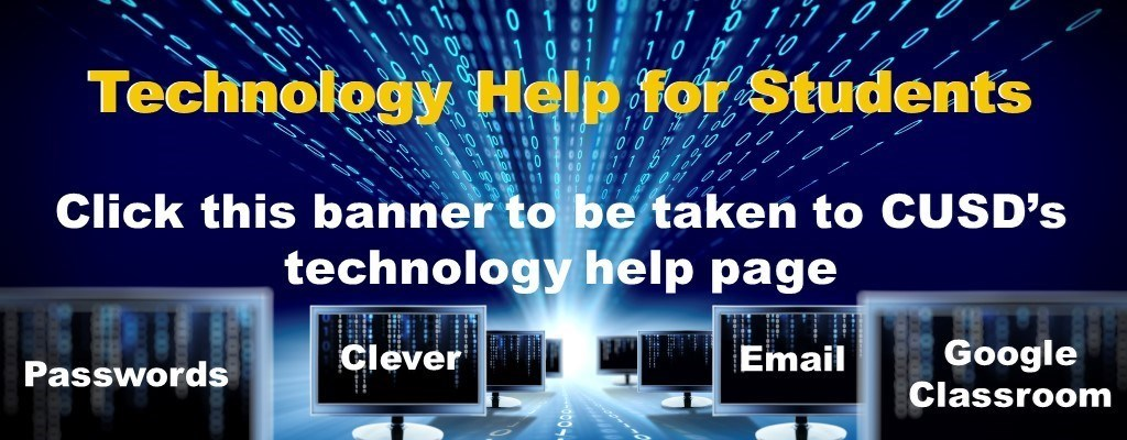 Technology Help for Students Banner