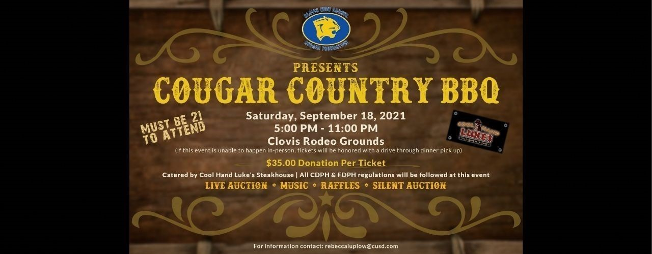 Cougar Country BBQ Banner