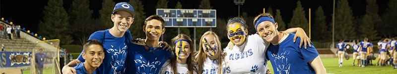 Students at Football Game