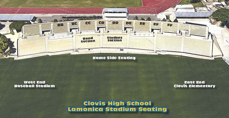 Photo of CHS Lamonica Stadium Seating