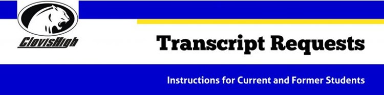 Transcript Request Banner