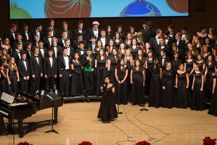 Choir during concert